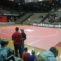 Photo taken at NU Coliseum by Mike T. on 12/9/2012