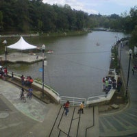 Photo taken at Parque de Los Lagos by Josselin D. on 11/10/2012