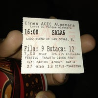 Photo taken at Cines Acec Almenara by Jose R. on 1/27/2013