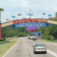 Photo taken at Walt Disney World Entrance by Lauren A. on 5/19/2013