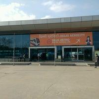 Photo taken at Delhi Aerocity Metro Station by Abhishek A. on 8/22/2016