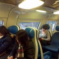 Photo taken at Stazione Caronno Pertusella by Маша Б. on 1/14/2013