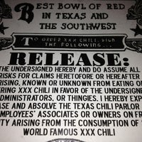 Photo taken at Texas Chili Parlor by Matt G. on 3/12/2013