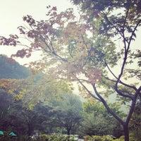 Photo taken at 청평휴양림 by Bohyun S. on 10/12/2016
