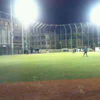 Photo taken at 青山運動場 野球場 by To M. on 4/13/2013