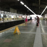 Photo taken at Yellow Line - Araneta Center-Cubao Station by Jas A. on 8/20/2013