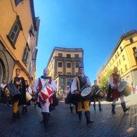 Photo taken at Piazza del Teatro (Piazza Verdi) by Mauro R. on 9/2/2016