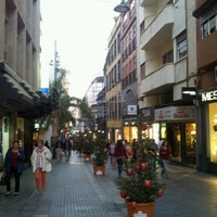 Photo taken at Calle Castillo by Nestor M. on 12/18/2012