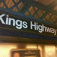 Photo taken at MTA Subway - Kings Highway (B/Q) by **Heath** on 11/11/2012
