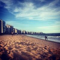 Photo taken at Praia de Itaparica by Márcio A. on 2/10/2013