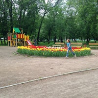 Photo taken at Сквер на Алымова by Alyona S. on 5/17/2013