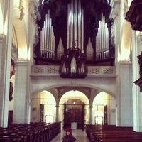 Photo taken at Hofkirche by Vicky S. on 12/20/2012