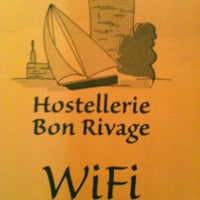 Photo taken at Hostellerie Bon Rivage by Anna Q. on 11/28/2012