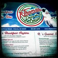 Photo taken at R. Thomas' Deluxe Grill by Civilocity J. on 7/1/2012