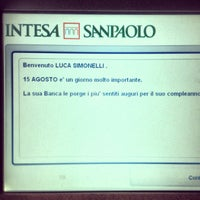 Photo taken at Sede Secondaria Banca Intesa Sanpaolo by Luca S. on 8/11/2012