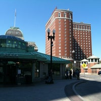 Photo taken at Kennedy Plaza Bus Terminal by Valerie W. on 6/10/2012