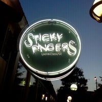 Photo taken at Sticky Fingers Smokehouse by Brad A. on 5/9/2012