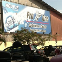 Photo taken at Pro One Badminton Centre by Tan E. on 3/4/2012
