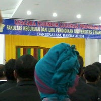 Photo taken at Auditorium FKIP UNSYIAH by Unny E. on 4/6/2013