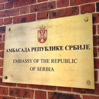 Photo taken at Embassy of Serbia by Brooke S. on 5/3/2014