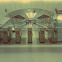 Photo taken at Metro Manquehue by Marcelo H. on 1/5/2013