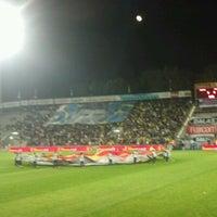 Photo taken at Bloomfield Stadium by Sagi B. on 1/4/2013