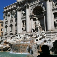 Photo taken at Piazza di Trevi by Yulia O. on 7/23/2013