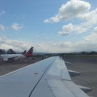 Photo taken at Gate 5 Aeropuerto Internacional Juan Santamaria by Juan M. on 11/4/2012