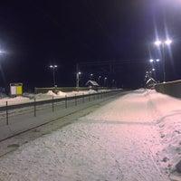 Photo taken at Rygge stasjon by Toni G. on 1/12/2016
