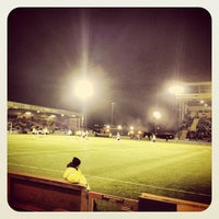 Photo taken at Sincil Bank Stadium-Lincoln City Football Club by Andrew D. on 12/4/2012