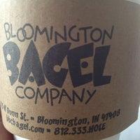 Photo taken at Bloomington Bagel Company by Ann J. on 8/18/2013