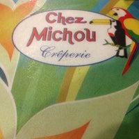 Photo taken at Chez Michou Crêperie by Carlos F. on 4/6/2013