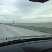 Photo taken at I-10 Twin Span Bridge by Tom M. on 1/3/2013