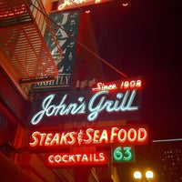 Photo taken at John's Grill by Patrick A. on 3/26/2013