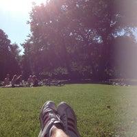 Photo taken at Schloßgarten by Sel T. on 7/8/2013
