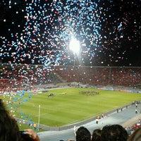 Photo taken at Estadio Nacional Julio Martínez Prádanos by Caroline S. on 3/27/2013