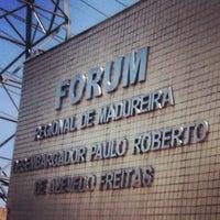 Photo taken at Fórum Regional de Madureira by Fabricio L. on 12/5/2012