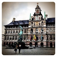 Photo taken at Antwerp City Hall by Marie-Eve V. on 10/30/2012