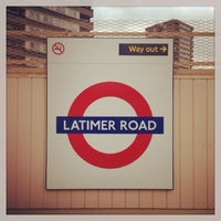 Photo taken at Latimer Road London Underground Station by Demsi on 10/10/2013