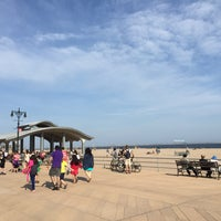 Photo taken at Ocean Parkway Beach by Jeffrey K. on 5/25/2015
