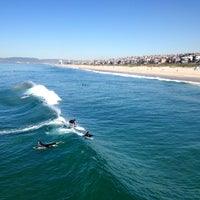 Photo taken at Manhattan Beach by South Park i. on 3/1/2013