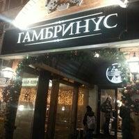 Photo taken at Гамбринус by Alenochka F. on 12/3/2012