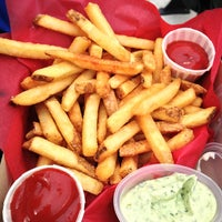 Photo taken at Box Frites by Lauren S. on 6/2/2013