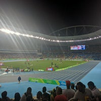 Photo taken at Olympic Stadium (Engenhão) by Justin S. on 8/18/2016