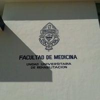 Photo taken at Unidad Universitaria de Rehabilitacion by Febe Z. on 11/30/2012