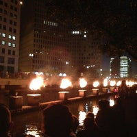 Photo taken at WaterFire Providence - Waterplace Park by Anuj P. on 8/11/2013