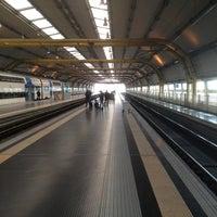 Photo taken at Fiumicino Aeroporto railway station (ZRR) by Xavier O. on 2/28/2013