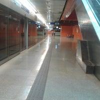 Photo taken at Delhi Aerocity Metro Station by Aman V. on 4/4/2014