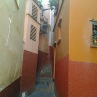 Photo taken at Callejón del Beso by Irving V. on 11/28/2012