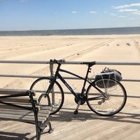 Photo taken at Ocean Parkway Beach by Mary W. on 4/2/2013